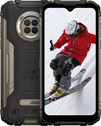 DOOGEE S96 Pro 8GB RAM + 128GB ROM Movil Libre, Cámara Cuádruple 48MP, Visión Nocturna + Frontal 16MP, 6350mAh Smartphone 4G, Android 10, 6.22 Inch, NFC, GPS, IP68 IP69K Móvil Resistente, Verde