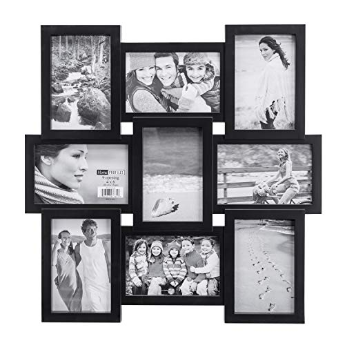 Malden 4x6 9-Opening Collage Picture Frame - Displays Nine 4x6 Pictures -...