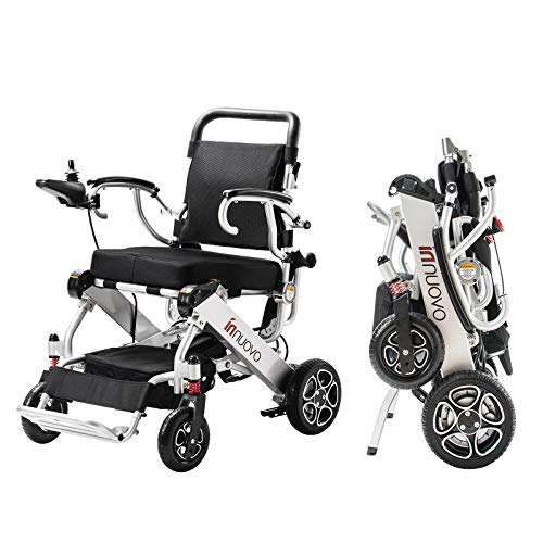 Intelligent Lightweight Foldable Electric Wheelchair, Portable Folding Carry Motorized Wheelchairs,...