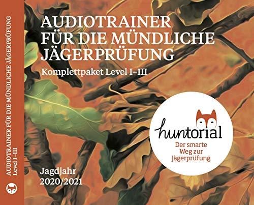 Huntorial - Audiotrainer für die Jägerprüfung Komplettpaket Level 1-3 Jagdjahr 2020/21