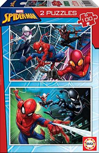 Educa - Spider-Man Conjunto de Puzzles, Multicolor (18101)