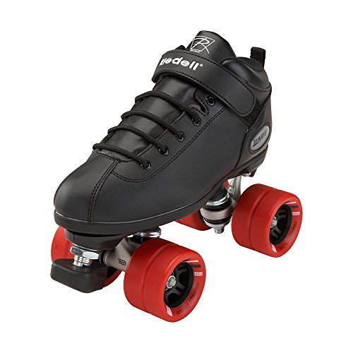 Riedell Skates - Dart - Quad Roller Speed Skates | Black | Size 3
