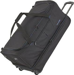 """Travelite Sac de voyage à roulettes """"Basics"""" 70cm noir/bleu Borsone, 70 cm, 98 liters, Multicolore (Noir/bleu)"""