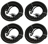 Rockford Fosgate RFI-10 10' Feet 2 Channel RCA Car Audio Signal Cables (4 Pack)