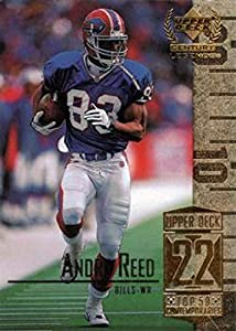 1999 Upper Deck Century Legends Football #72 Andre Reed Buffalo Bills Official NFL Trading Card From The UD Company