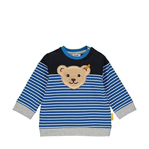 Steiff Sweatshirt Sweat-Shirt, Bleu (Black Iris 3032), 58 (Taille Fabricant: 056) Bébé garçon