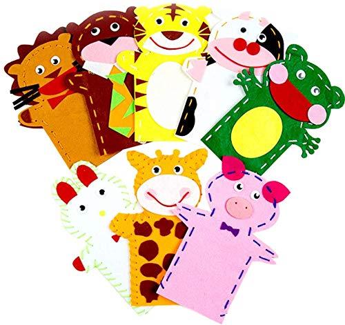 Toyvian 7pcs Mein erstes Nähset Vorschulset Projekte DIY Tiernähhandwerk für Kinder Kleinkind Anfänger