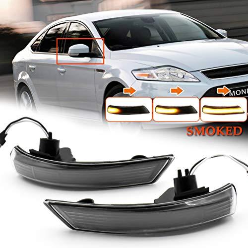 Indicador de giro dinámico del coche LED Luz de espejo retrovisor lateral Luz indicadora para Focus 2 3 Mk2 Mk3 Mondeo MK4