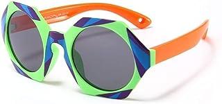 GF-outdoor products - GF-outdoor products Polarizador Infantil Personalidad Color Tendencia Gafas de Sol niños niña niña Gafas de Sol Gafas (Color : Green)