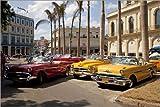 Posterlounge Leinwandbild 100 x 70 cm: Oldtimer in Havanna,
