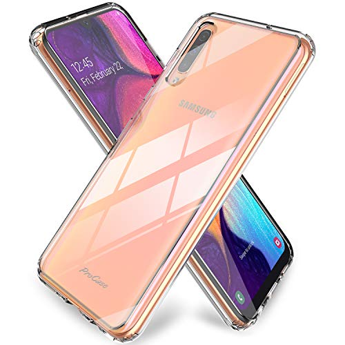 ProCase Funda Transparente Samsung Galaxy A50/A30S 2019, Carcasa Ultra Fina Híbrida [Reverso PC Duro + Borde TPU Flexible], Funda Cristalina Antigolpe Antideslizante Anti Arañazos para 6.4