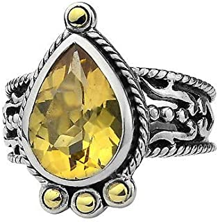 RINGJEWEL 2.11 ct SI1 Real Moissanite Solitaire Engagement /& WEDDING Ring Brown green Size 7