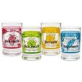 getDigital Zaubertrank Schnapsgläser Set - 4 Magische Shotgläser, Stamper aus Glas für Spirituosen & Liköre - Je 4cl, Spülmaschinengeeignet