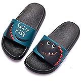 Chanclas de Playa Zapatos de Piscina para Niña Niño Sandalias Verano Antideslizante Zapatillas de Baño Casa Hombre Mujer Negro 28/29 EU