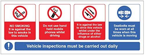 Caledonia signos 23669s, vehículo, diseño de señal de prohibido fumar, móviles, bebida/Drogas