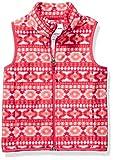 Amazon Essentials Girl's Polar Fleece Vest, Pink Geo, Small