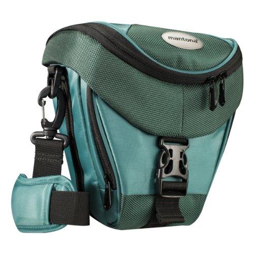 Mantona Colt Kameratasche dunkelgrün (Universaltasche inkl. Schnellzugriff, Staubschutz, Tragegurt und Zubehörfach, geeignet für DSLR- und Systemkameras)