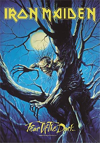 Heart Rock Bandiera Originale Iron Maiden Fear of The Dark Live, Tessuto, Multicolore, 110x75x0.1 cm