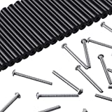 48 Pieces Electrical Outlet Extender Kit Includes 24 Pieces 3 Inch Switch and 24 Pieces 1-1/2 Inch 6-32 Thread Flat Head Device Mounting Extra Long Electrical Outlet Screws (Black)