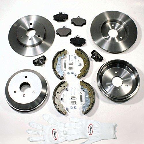 Bremsscheiben/Bremsen + Bremstrommel Set + Zubehör vorne + hinten