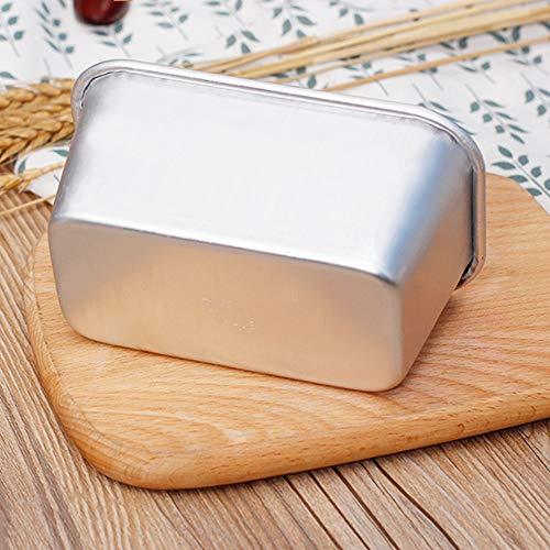 Teglie per pane, Confezione da 3 teglie in lega di alluminio per stampi per toast, panini, banana bread, lievito naturale,L
