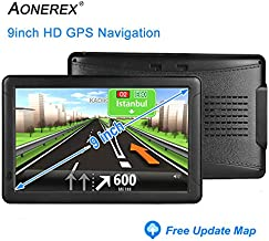 AONEREX GPS Navigation for car/Truck 9inch HD Capacitive Touch Screen, [2019 Upgraded Version] Voice Trun-by-Turn Route Guidance, Speed Limit Reminder Free Lifetime Map Update