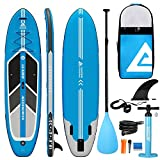 Leader Accessories Arrow 10'6' Blue Inflatable Stand Up Paddle Board with Fins (6' Thick) Includes Adjustable Paddle,Kayak Leash,ISUP Backpack,Pump with Gauge