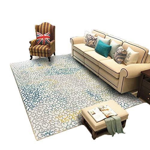 GOYOO Teppich Pile Wasseraufnahme Feuchtigkeitsfest Hindernisblock Wohnzimmer Schlafzimmer Geometrie Dicke 1,8 cm,130x190cm