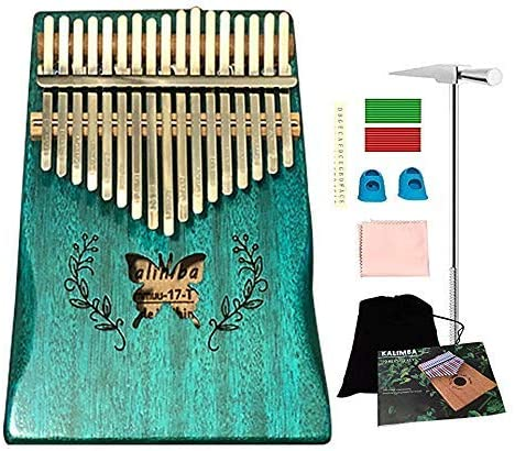 Ationgle Luxury Kalimba - 17 Keys Thumb Piano Include Tuning Hammer and Study Instruction. Unique Gift for Kids Adult...