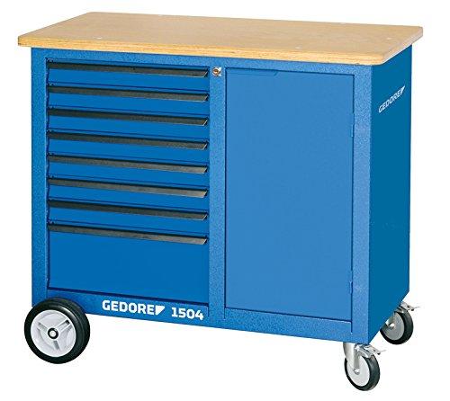 GEDORE 1504 0701 Rollwerkbank mit 8 Schubladen