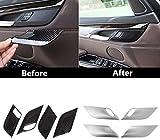 , para BMW X5 F15 X6 F16 2014 2015 2016 2017 2018 Accesorios de Coche Cerradura de Puerta de Seguridad Manija Cubierta de Cuenco Decoración automática-Carbon_Fiber_a_Set