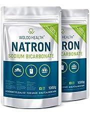 Bicarbonato en polvo de calidad alimentaria, 2 kg, en bolsa reutilizable.