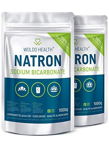 Bikarbonat av läsk för rengöring och kök - 100 % ren 2 x 1 000 g återförslutningsbar påse av matkvalitet