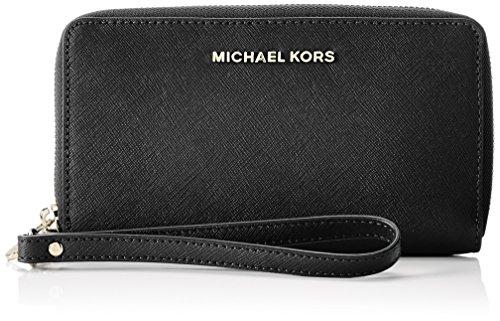 Michael Kors Wristlets, Borsa a Zainetto Donna, Nero (Black), 2.5x10.2x17.8 Centimeters (W x H x L)