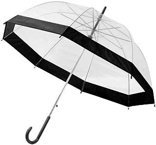 anruo 1 piece of plastic transparent umbrella cute rain sunny girl lady long handle bird cage dome shape long handle umbrella