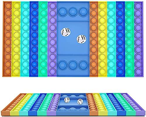 LanTianX Juegos de mesa de rompecabezas, dados lanzando juguetes de descompresión, juegos de padres e hijos para niños, juguetes pioneros que matan roedores (azul)