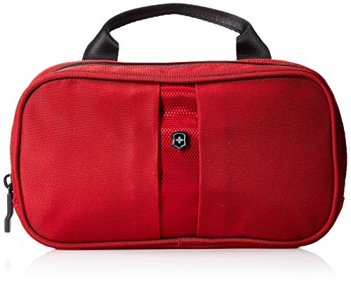 Victorinox Overnight Essentials Toiletry Kit, Red/Black Logo