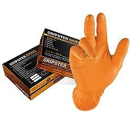 48 paquetes de guantes desechables de nitrilo sin polvo Grippaz/® 308 grandes resistencia extra y destreza L azul