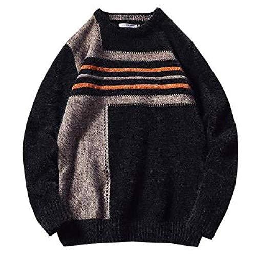 KTZAJO 2021 Pull à capuche mi-long pour homme, couleur unie, tendance, streetwear, décontracté, droit, pour homme - Noir - M