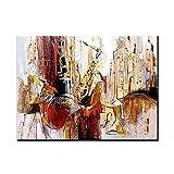 ZNYB Cuadros Decoracion Baratos Música de violín 100% Pintado a Mano Abstracto Arte Moderno Pintura al óleo sobre Lienzo Arte de Pared Pintura de Pared para Sala de Estar decoración del hogar