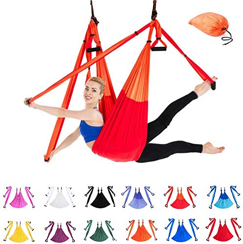 Indoor Reverse Aerial Yoga Hangmat Yoga Swing Fitness Hangmat Outdoor Parachute Doek YOGA HAMMOCK,1