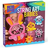 Craft-tastic – Stacked String Art Babies – Craft Kit Makes a Baby Bunny, Loveable Lamb, Cute Cow, and Cheerful Chick
