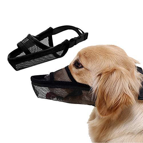 TANDD Dog Muzzle Soft Nylon Muzzle - Adjustable Breathable Mesh Muzzle, Dog...