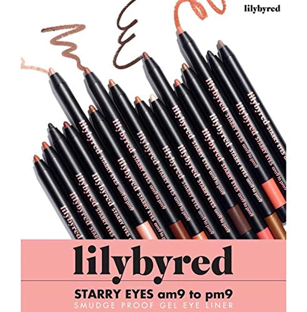 忠実なチャンバーポインタlilybyred 1+1 スターリー Starry アイズ Eyes ナインツナイン 9 to 9 アイライナー (14レッドブリック)