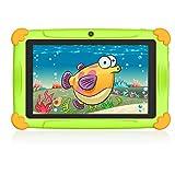 tablet per bambini 7 pollici 2 a 12 anni android 9.0 wifi gms 32gb di rom 3gb ram, supporto 128 gb espandibile doppia fotocamera educazione preinstallato iwawa google apps i regali- verde