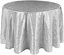 LinenTablecloth Round Pintuck Tablecloth Silver
