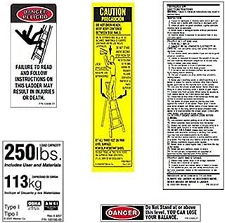 Werner 250 LB Fiberglass Step Ladder Label Kits (Pack of 6)