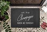 Shengqinfeng We Sip Champagne When We Thirstay Funny Door Mat Porch Decor Outdoor Doormat Front Door Dcor 15.7 x 23.6 Inch