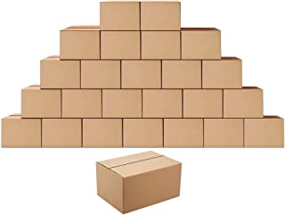Shipping Boxes Mailers 8x6x4 inches Corrugated Cardboard Small Packing Kraft Moving Box, Pack of 25