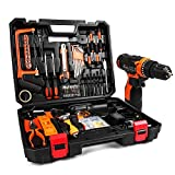 jar-owl 55 Piece Tool Kits 16.8V Cordless Drill Lithium Ion with Tool Set...
